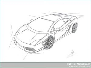 Zeichnung: Lamborghini Gallardo