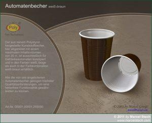 3D Grafik eines Automatenbechers