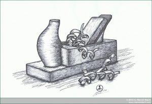 Zeichnung Holzhobel