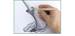 Zeichnen mit Papierwischer