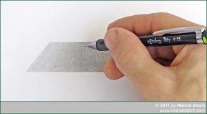 Fläche mit Bleistift überarbeiten