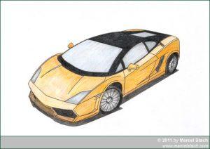 Lamborghini orange ausgemalt