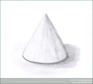 Gezeichneter Kegel ohne Papierwischer