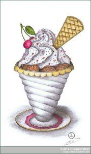 Zeichnung Eisbecher