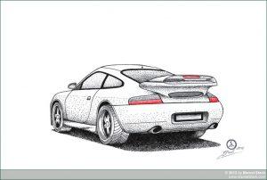 Zeichnung Porsche 911